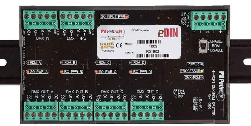 Edin Dmx Rdm Splitter 4 Way