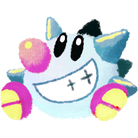 Sir TapTap's icon, a large Spikeball with feet, eyes, nose and a wide grin.