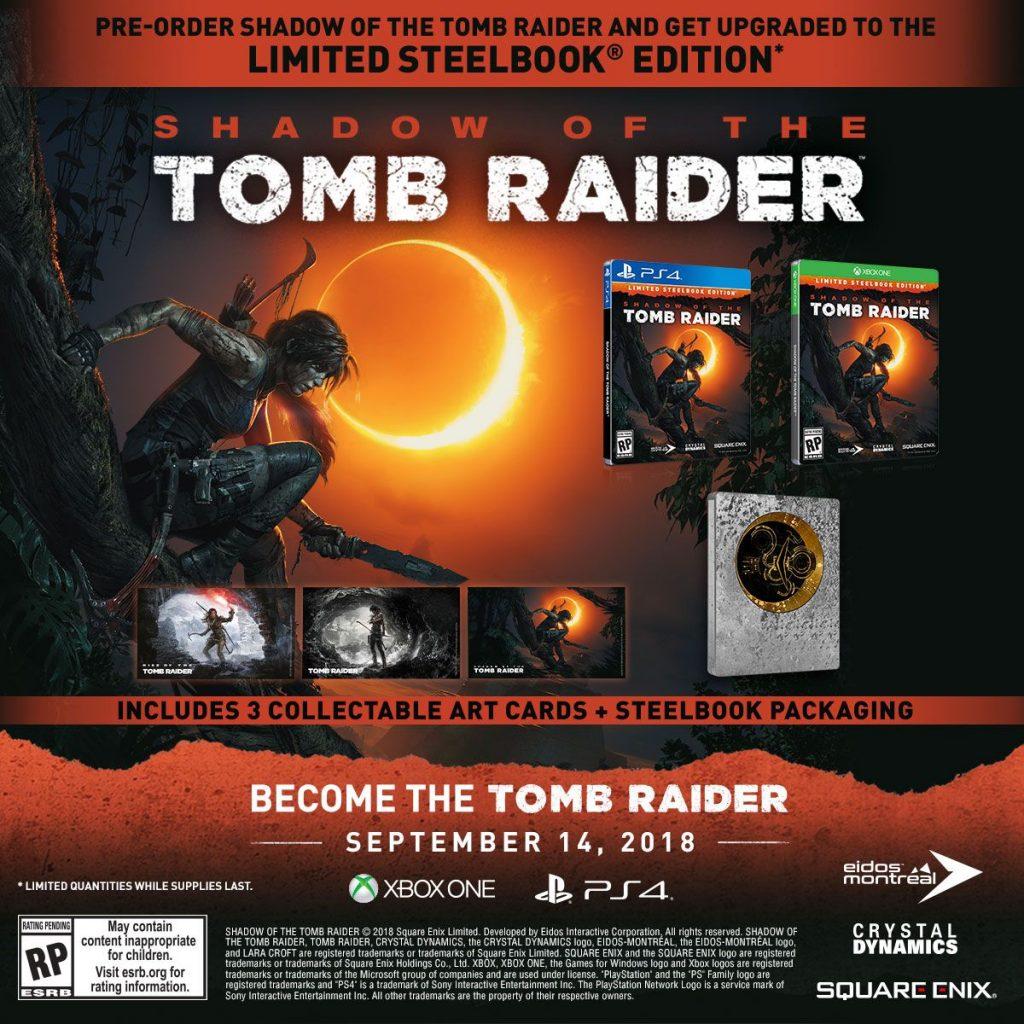 Shadow of the Tomb Raider steelbook