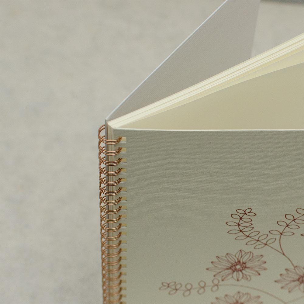 「gerbera 白」背表紙「灰白」イメージ2