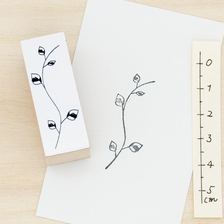 スタンプ<br>evergreen つる系の葉(L)