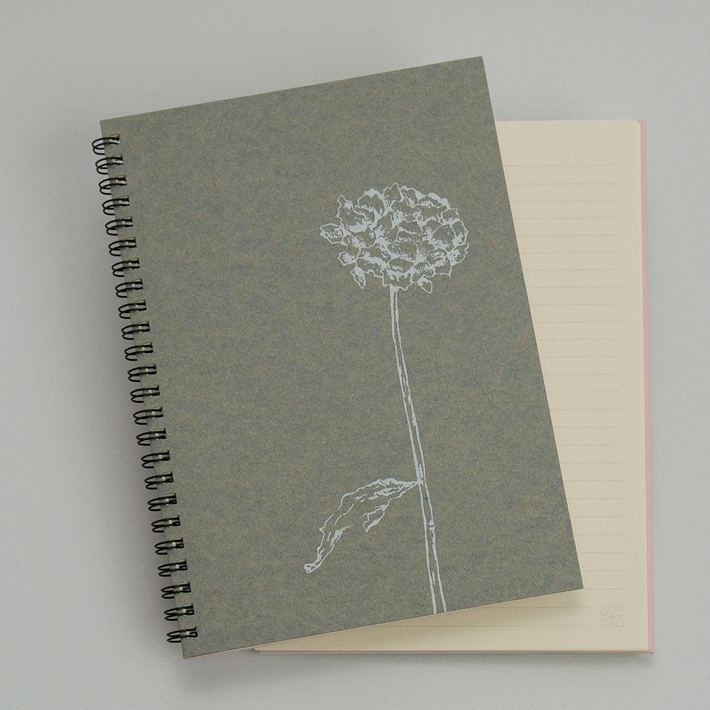 オーダーノート(A5)<br>dryflower<br>(裏表紙/ピンク)イメージ1