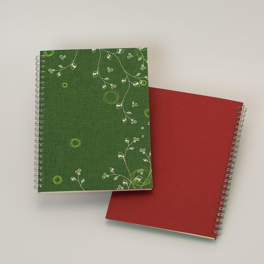 オープン記念ノート「evergreen」<br>背表紙「濃赤」