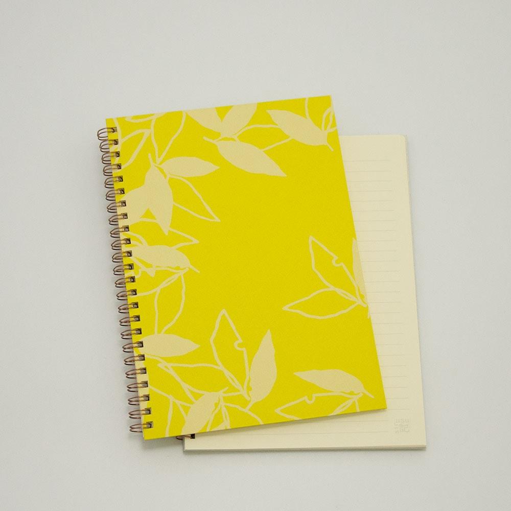葉模様×黄色