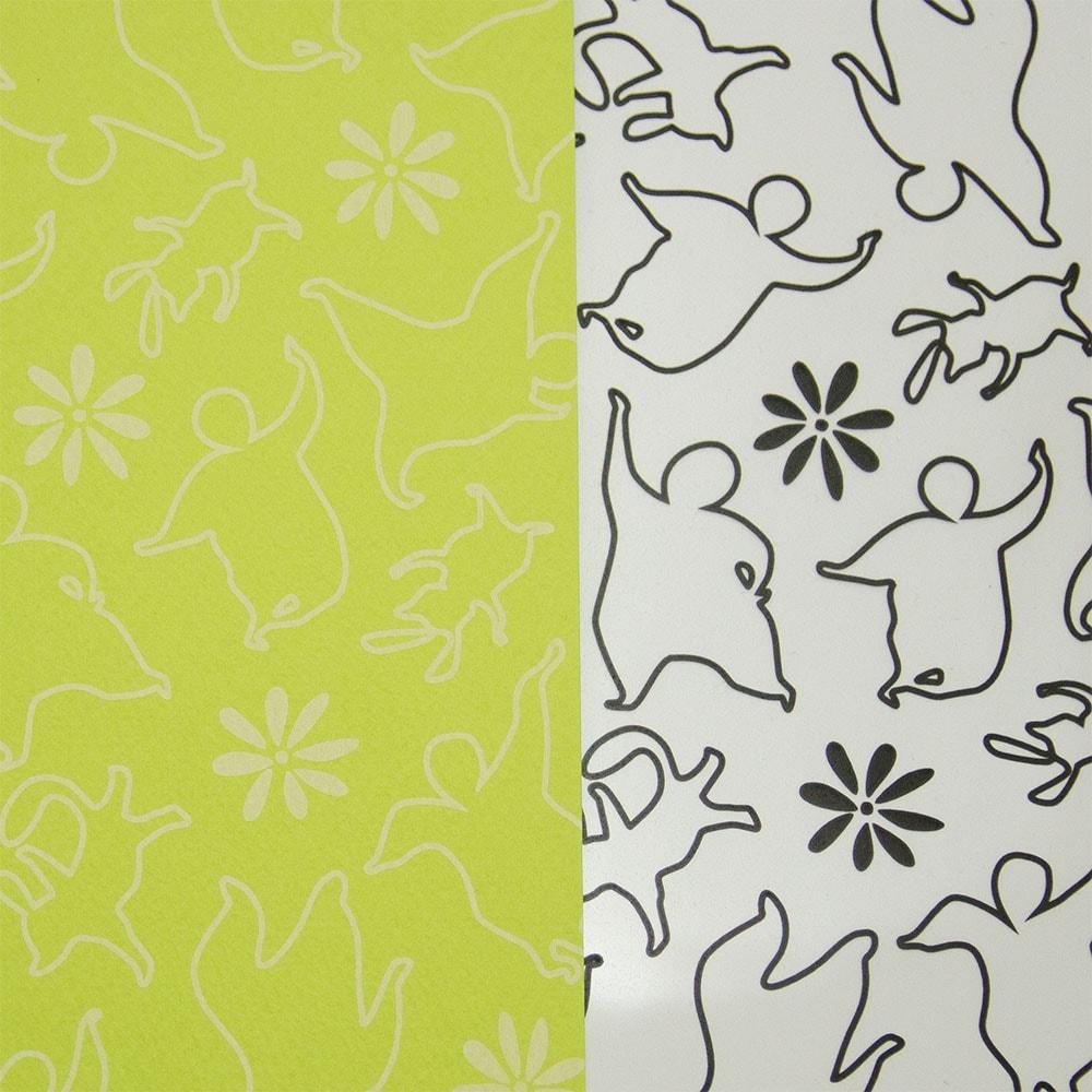 おどる×黄緑色イメージ5