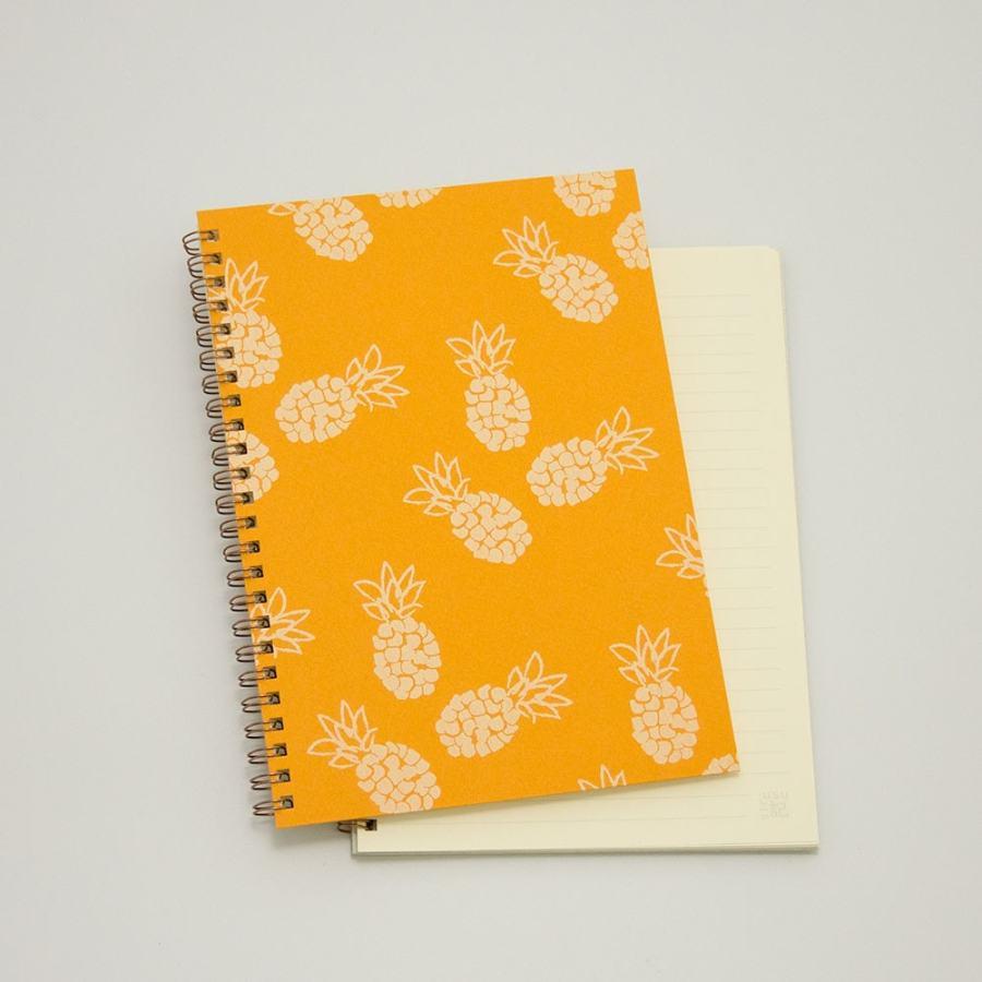 オーダーノート(A5)<br>パイン×橙色