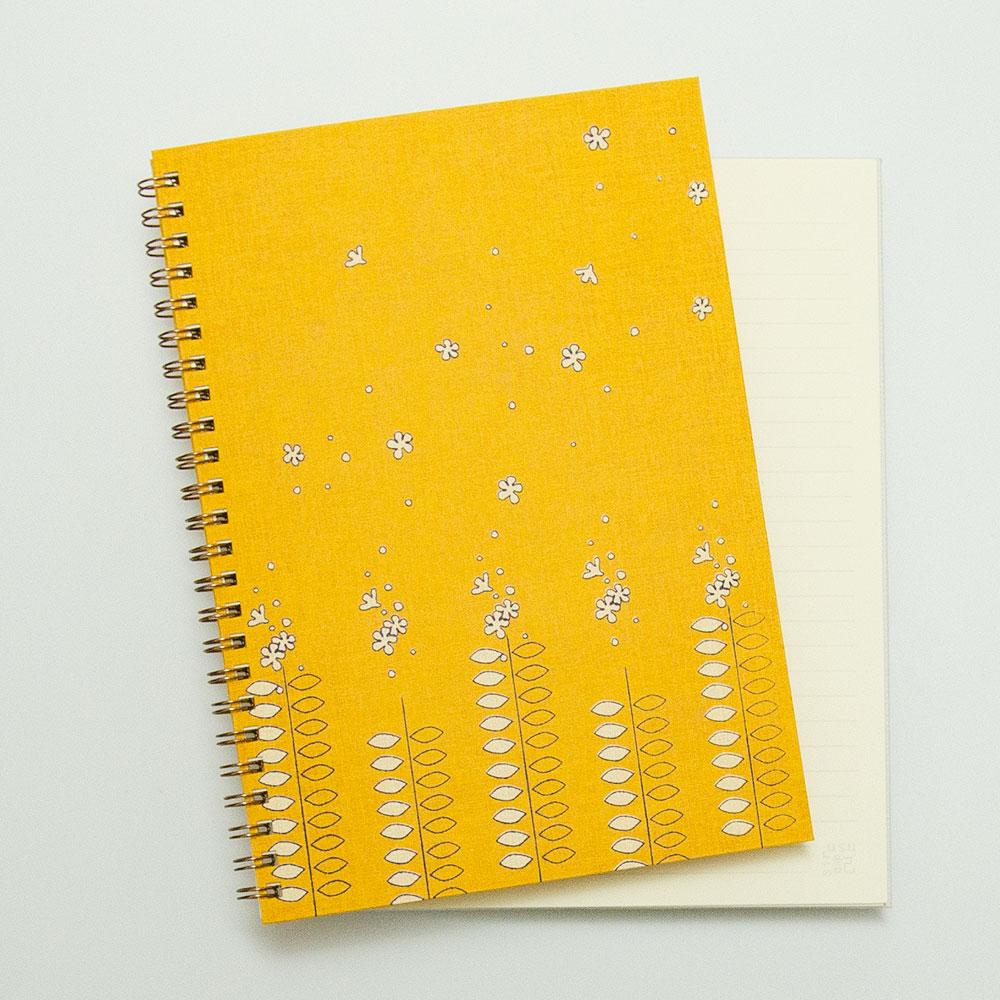 こだわりのリングノート。私だけのオリジナルデザインノート。たびだち。