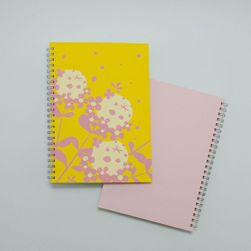 こだわりのリングノート。私だけのオリジナルデザインノート。タイム・ピンク。
