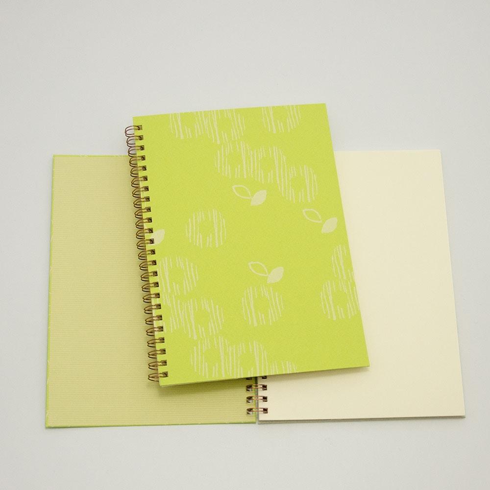 オーダーノート(A5)<br>ゆるやか×黄緑色イメージ2