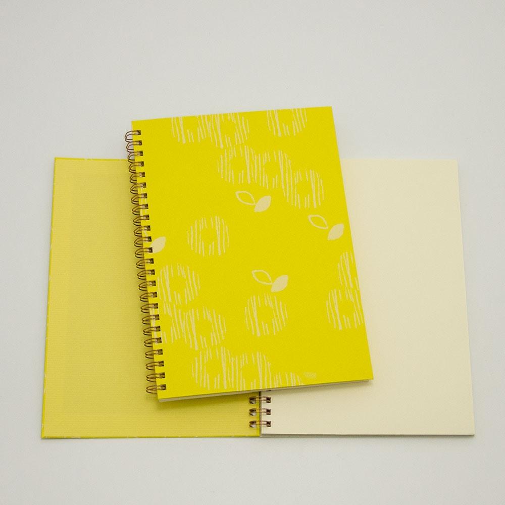オーダーノート(A5)<br>ゆるやか×黄色イメージ2
