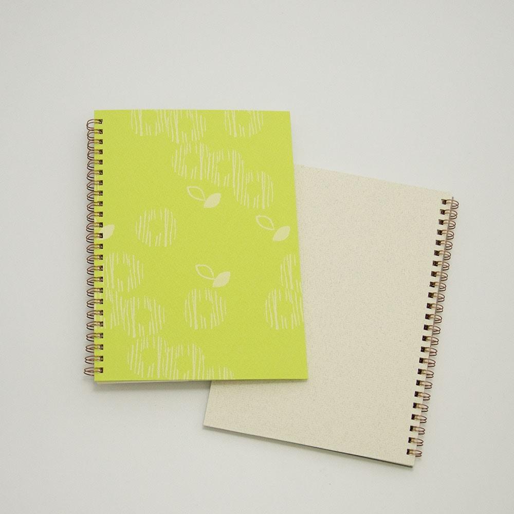オーダーノート(A5)<br>ゆるやか×黄緑色イメージ3