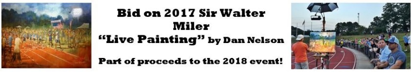 2017 Sir Walter Miler Live Painting