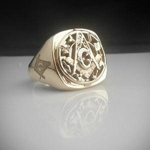 Masonic 9 Carat Gold Bespoke Ring