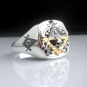 Masonic Ring VIRTUS-JUNXIT-MORS-NON-SEPARABIT