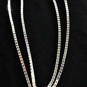 Silver Chain 3mm Box Belchar 22 inches Long