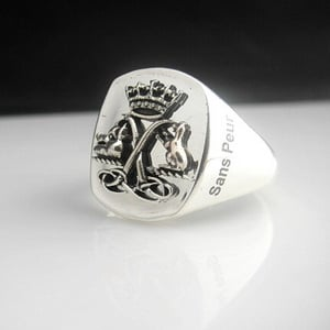 Argyll and Sutherland Highlanders Bespoke Oxidized Emblem Ring