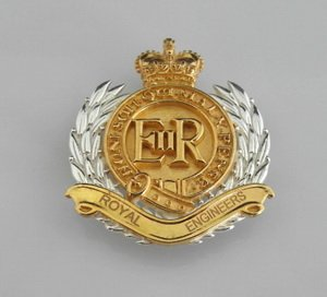 Royal Engineers Gold Plated Pendant/Broach