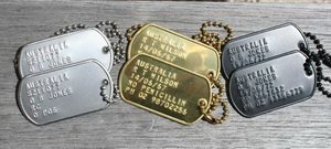 Dog Tags Pendant Broaches