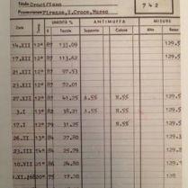 図5)チマブーエ《十字架降下》の温室度記録 国立輝石修復研究所アーカイヴセンター