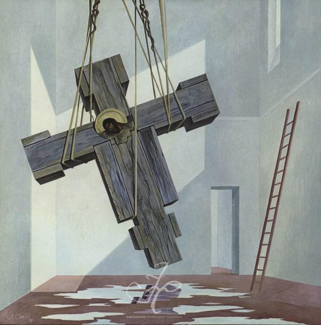 図1 ファブリツィオ・クレリチ《十字架の木々》1976年 油彩/板 ヴァチカン美術館収蔵 ファブリツィオ・クレリチ個人ウェブサイト