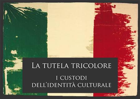 図3 「トリコローレ(イタリア三色旗)の保護」展 ポスター
