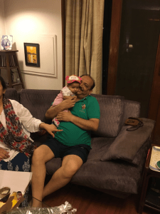 A Mother's day surprise; host dad plus baby