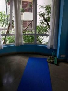 Sunday morning yoga and meditation in Bandra