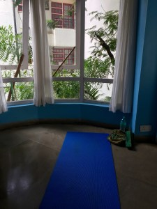 Sunday morning yoga and meditation in Bandra