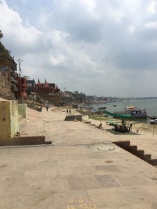 Walking along the ghats