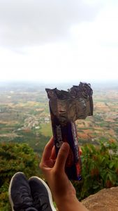 Seek Adventure: Enjoying some snacks on the cliffs