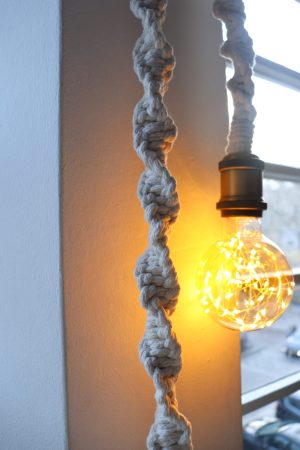 Macrame hanglamp
