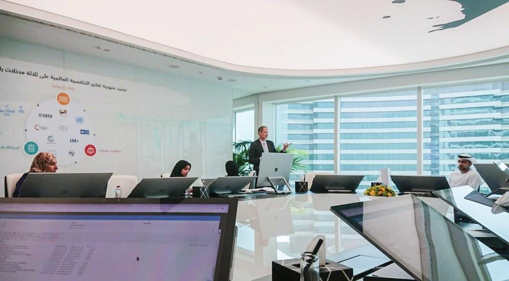 David Brackfield, OECD, conducting SDMX and .Stat training with FCSA staff members.