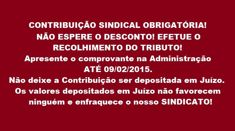 SISEP RIO CONTRIBUICAO SINDICAL