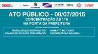 Convocamos todos os servidores públicos do município do Rio de Janeiro! VAMOS À LUTA!