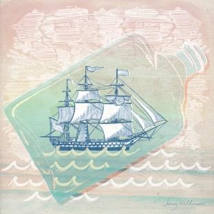 A ship in a bottle