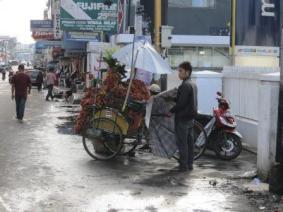 Becak untuk berdagang