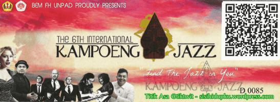 Tiket Masuk Kampoeng Jazz.