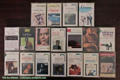 Koleksi kaset jazz barat.