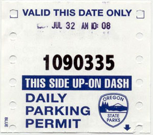 Daily Parking Permit: July 32, 2004