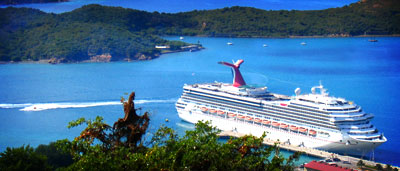 The Carnival Glory cruise ship docked at St. Thomas, U.S. Virgin Islands, Winter 2005