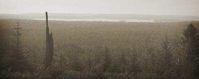 Siskiwit Lake, as seen from the Greenstone Ridge near Mount Siskiwit, Isle Royale