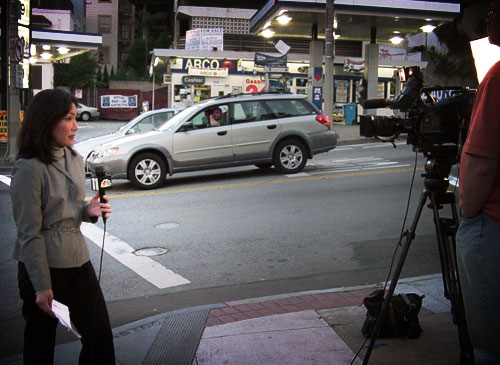 Watching the Watched: Reporting Live from San Francisco