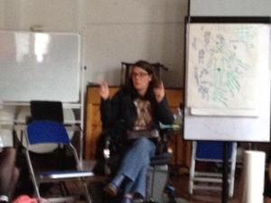 Ciara Doyle leading the workshop