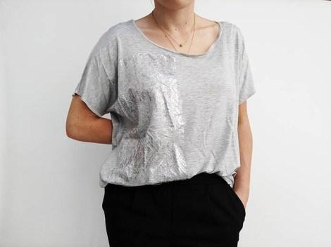"""Tee- shirt """" Lumières """" Gris clair"""