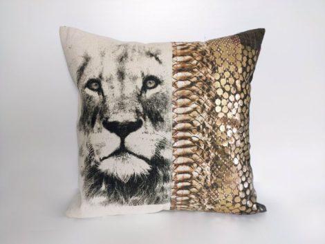 Coussin Lion doré