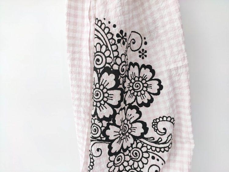 Étole Été Rose et Blanc -Sisssimorocco