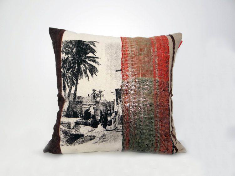 Housse Coussin Palmier Vintage