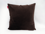 housse coussin patchwork or marron dos