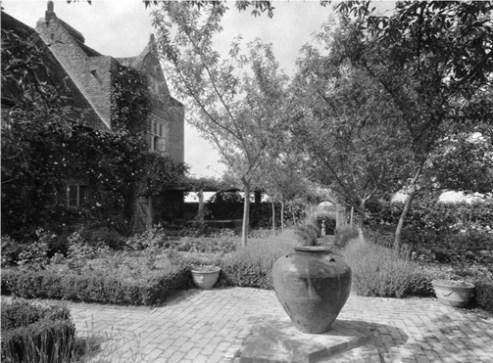 The White Garden before the pergola was built. Copyright Adam Nicolson
