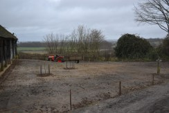 The smaller meadow area already sown.